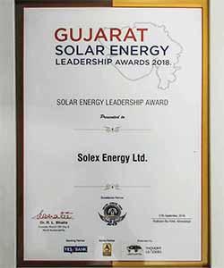 Gujarat Solar Energy leadership Awards - Solex